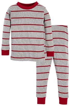 Burt's Bees Variegated Stripe Organic Toddler Holiday Matching Pajamas