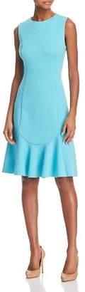 Elie Tahari Lizzie Ponte Flutter Dress