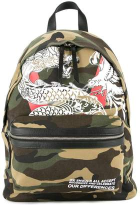 Dragon Optical Ports V print backpack