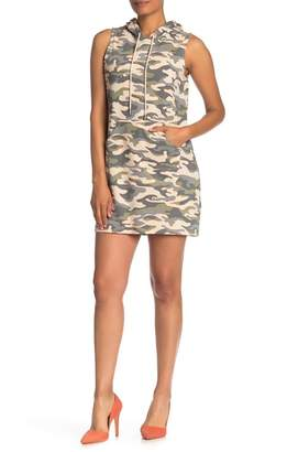 Material Girl Sleeveless Hoodie Dress