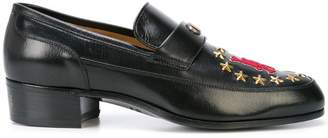 Gucci leather loafer with LA patch