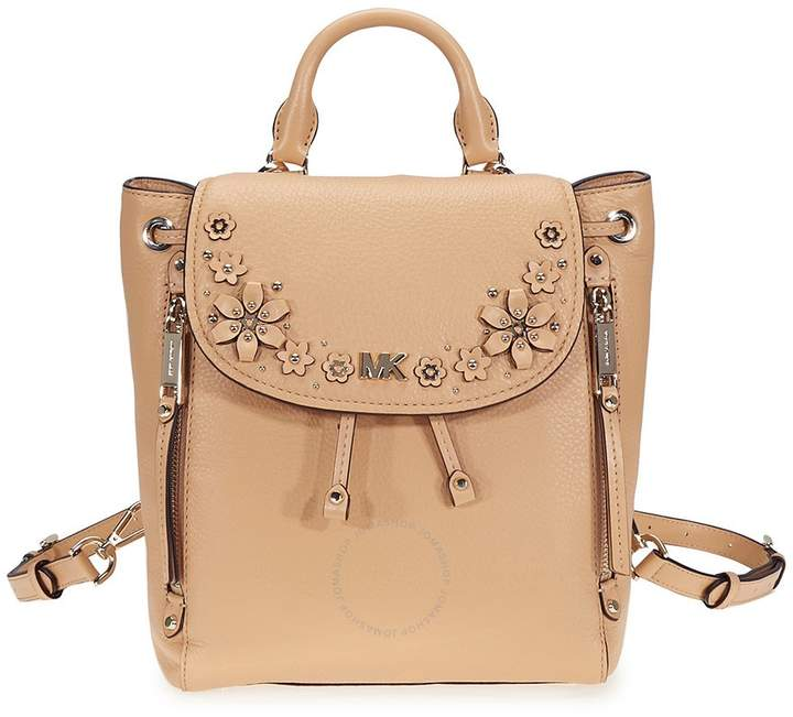 Michael Kors Evie Small Flower Studded Backpack- Butternut - ONE COLOR - STYLE