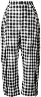 Henrik Vibskov checkered cropped trousers
