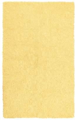 Ebern Designs Baugh Shag Chenille Yellow Area Rug Rug