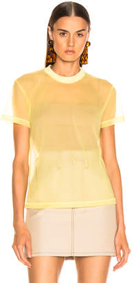 Helmut Lang Little Tee in Citric Yellow   FWRD