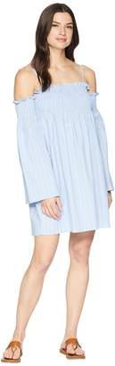Wrangler Off The Shoulder Dress Ruffle Sleeves Women's Dress