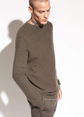 Vince Waffle-Knit Cashmere Crew