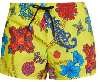 Versace Gioielleria Jetes Print Swim Shorts - Mens - Yellow