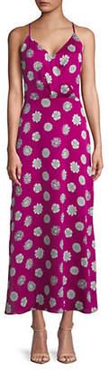 Vince Camuto Botanical Wrap-Front Maxi Dress