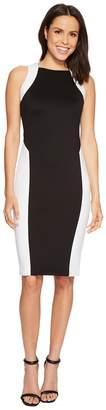Calvin Klein Color Block Sheath Dress CD8M17GR Women's Dress