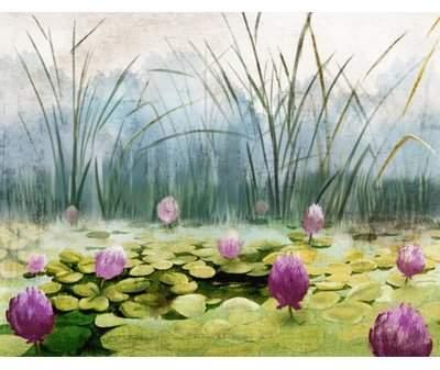 Wayfair 'Green Lake' Framed Print on Canvas