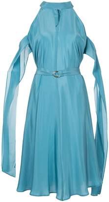 Taylor cut-detail draped midi dress