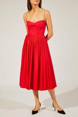 Khaite The Pamela Dress In Currant