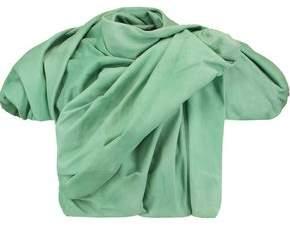 Rick Owens Cropped Draped Leather Jacket