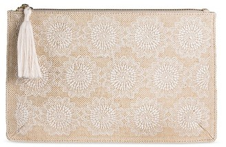 Mossimo Supply Co. Women's Embroidered Pouch Natural - Mossimo Supply Co. $12.99 thestylecure.com