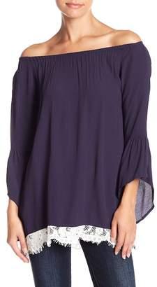 Muche et Muchette Off-the-Shoulder Bell Sleeve Tunic