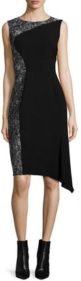 Elie Tahari Wynn Draped-Hem Dress $428 thestylecure.com
