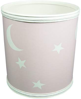 Redmon 7131PK Stars and Moons Round Wastebasket in
