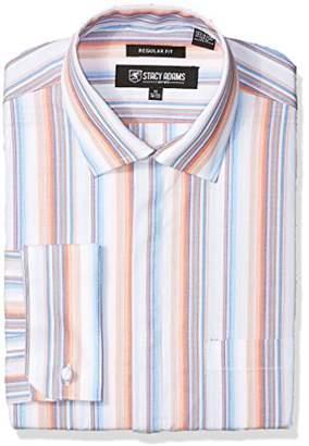 Stacy Adams Men's Striped Classic Fit Dress Shirt