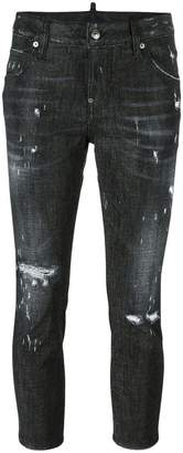 DSQUARED2 Cool Girl cropped microstudded jeans