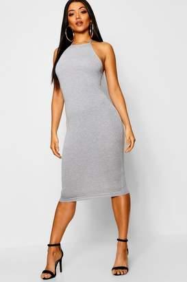 boohoo Basic 90s Neck Midi Dress