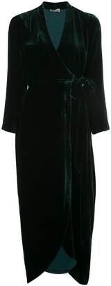 L'Agence front slit textured dress