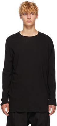 Isabel Benenato Black Jersey Crewneck Pullover