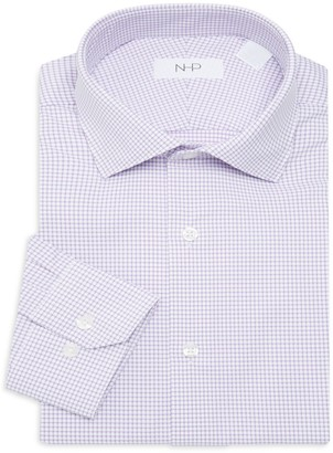 Saks Fifth Avenue Nhp Trim-Fit Small Check Dress Shirt