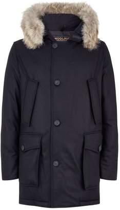 Woolrich Fur Trim Wool-Cashmere Arctic Parka