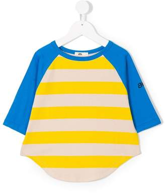 Bandy Button color block T-shirt