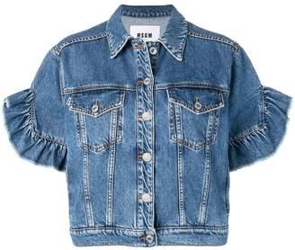 MSGM short sleeved denim jacket