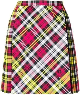 Le Kilt pleated tartan mini skirt