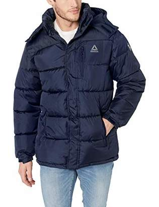 Reebok Men's Sporty Heavy Weight Hooded Bubble Jacket