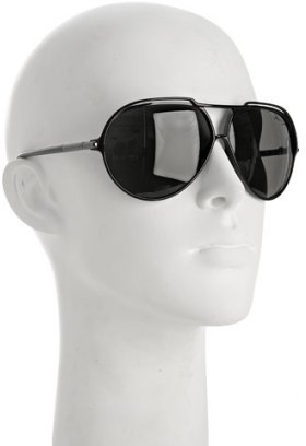 Marc Jacobs black thin aviator sunglasses