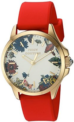 Juicy Couture Women's 'Jetsetter' Quartz Gold-Tone and Silicone Automatic Watch, Color:Red (Model: 1901325) $145 thestylecure.com