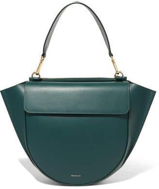 Hortensia Wandler Medium Leather Shoulder Bag - Forest green