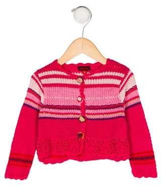 Catimini Girls' Knit Long Sleeve Cardigan w/ Tags