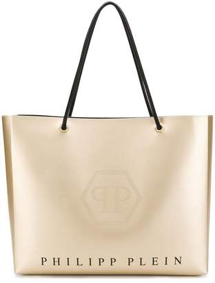 Philipp Plein logo shopping tote
