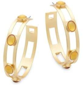 Stephanie Kantis Monaco Citrine Hoop Earrings