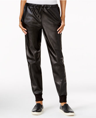 chelsea sky Faux-Leather Jogger Pants, Only at Macy's $98 thestylecure.com