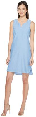 Hatley Embroidered Notch Neck Dress Women's Dress