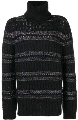 Saint Laurent contrast knit sweater