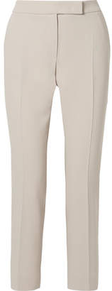 Max Mara Cropped Stretch-wool Crepe Straight-leg Pants - Beige