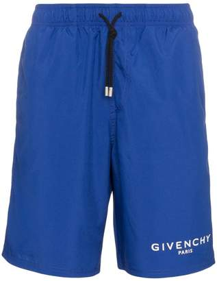 Givenchy Logo Printed Swim Shorts