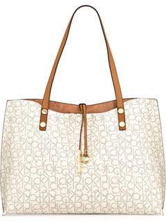 Iconic American Designer Reversible Monogram Tote Bag