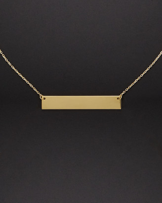 14K Italian Gold Engravable Bar Necklace