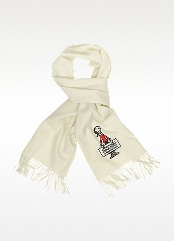Moschino Cheap & Chic Moschino Cheap and Chic - Olive Oil Solid Wool Long Scarf