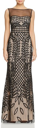 JS Collections Embroidered Mesh Gown $288 thestylecure.com