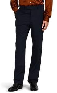 Maison Margiela Men's Wool Flat-Front Trousers - Dk. Blue