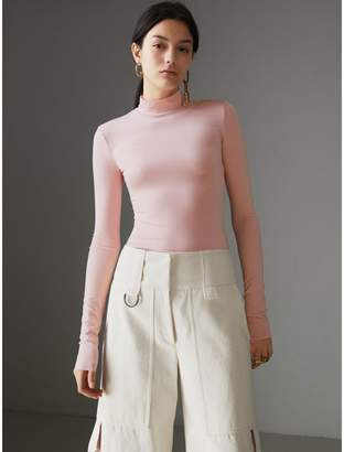 Burberry Stretch Modal Silk Turtleneck Top